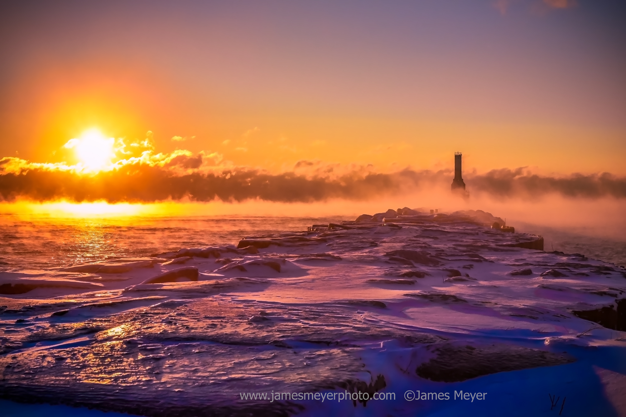 Steam Fog in Port Washington WI by James Meyer Photography