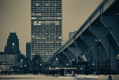Hoan Bridge and US Bank Building