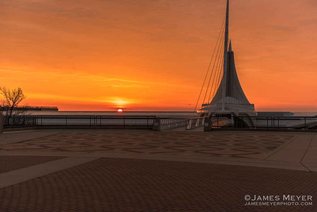Sunrise May 30, 2016 Milwaukee Art Museum by James Meyer
